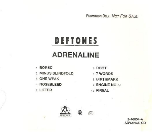 Adrenaline CD Promo [Adv]