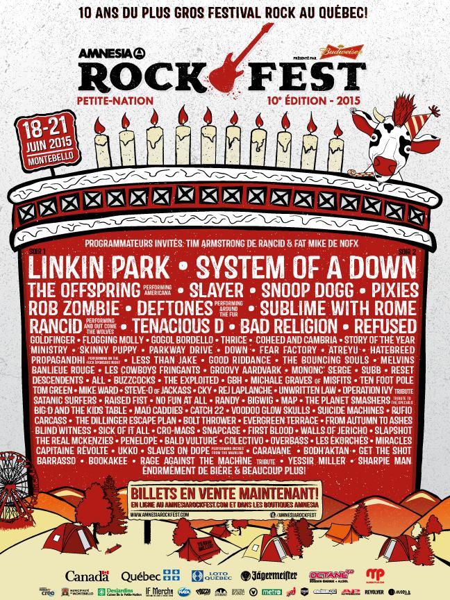 Rockfest 2015 lineup